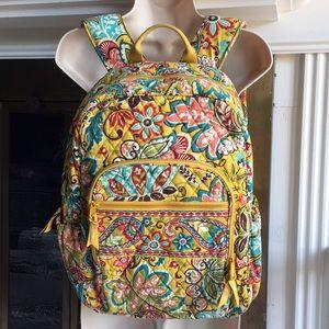 Vera Bradley yellow floral backpack book bag